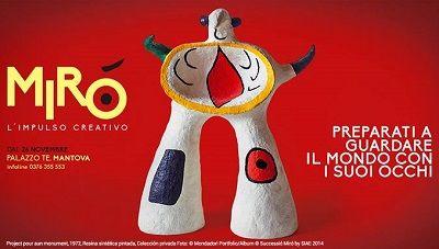 """Mantova - Si apre il 25 novembre (fino al al 6 aprile 2015) alle Fruttiere di Palazzo Te la mostra """"Mirò"""" con oltre 130 pezzi del grande artista catalano."""