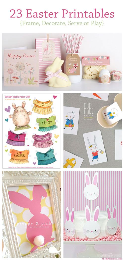 Easter Printables to frame, decorate, serve or play - TheDIYDreamer.com #printable #printables #easter @The DIY Dreamer