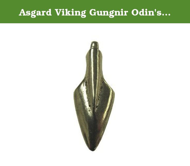 Asgard Viking Gungnir Odin's Spear Pendant. This chunky solid pewter pendant is the spear of Odin, the chief of the viking gods. It was worn by his followers for strength and is based on original pendnats that date from the viking age. It is 52mm long and weighs approx. 16g. It is hand made in Scotland on the Isle of Skye and comes ready to wear with a length of black waxed cord.