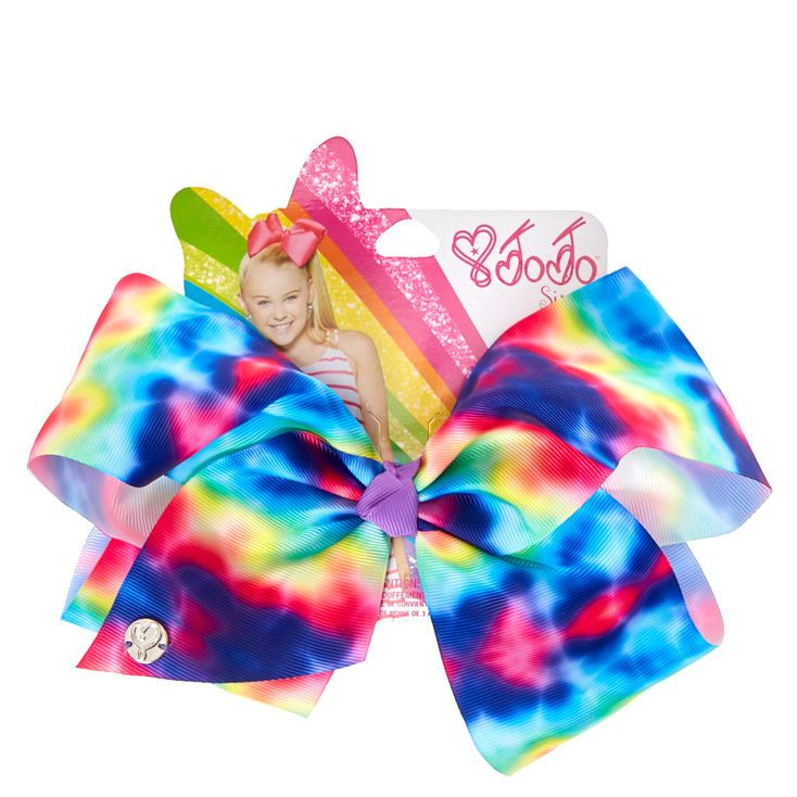 JoJo Siwa Large Rainbow Tie-Dye Signature Hair Bow