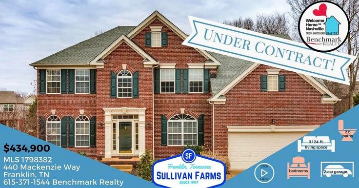 Need help selling your home? Or still looking in Sullivan Farms? I have more coming there. #welcomehometonashville #williamsoncountyrealestate #williamsoncountyhomes #franklintnrealestate #franklintn #bebetterbebenchmark