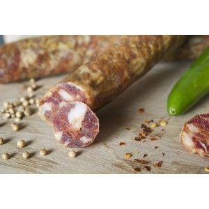 refined #sausages embellished with local coriander and hot red pepper; dried with patience in the shade of a natural cellar #salami