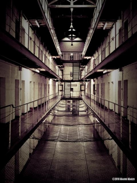 Fremantle Prison, Australia - The empty cell block, once full of prisoners, now stands eerily deserted. - Photo by Mauro Marzo - For almost 150 years, Fremantle Prison was a place of suffering, and a place where those who had caused suffering, were incarcerated. | #Photography #Prison |