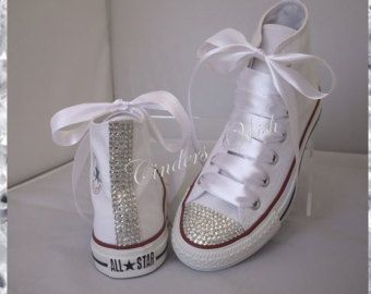 103 Klassische funkel Converse / high Top Bling Converse / kundenspezifische Diamante Converse / Converse wedding /