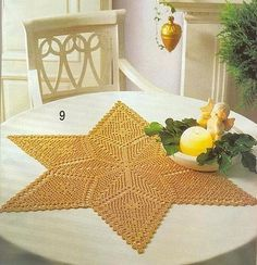 Christmas napkins, crochet patterns