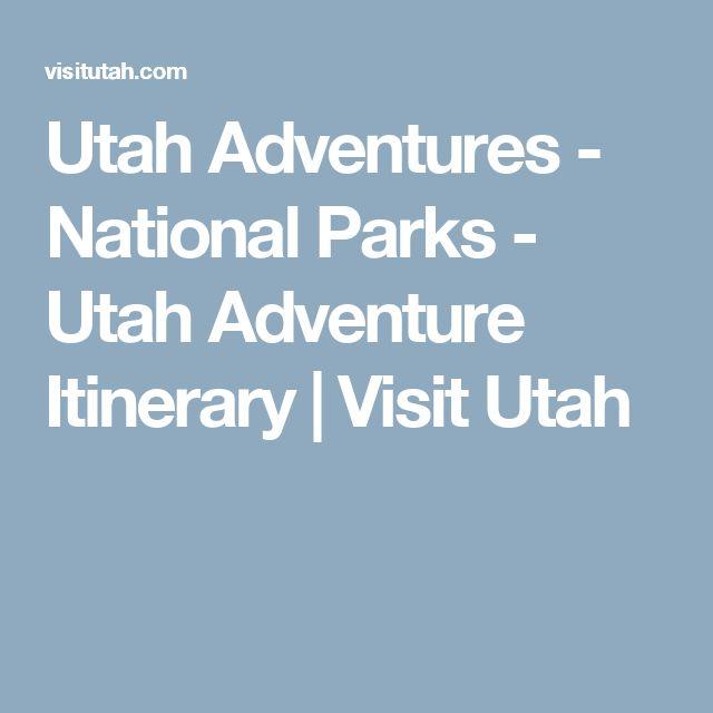 Utah Adventures - National Parks - Utah Adventure Itinerary | Visit Utah