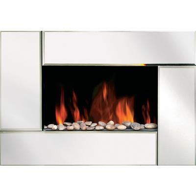 Modern Homes Electric Wall Mounted Fireplace Beveled