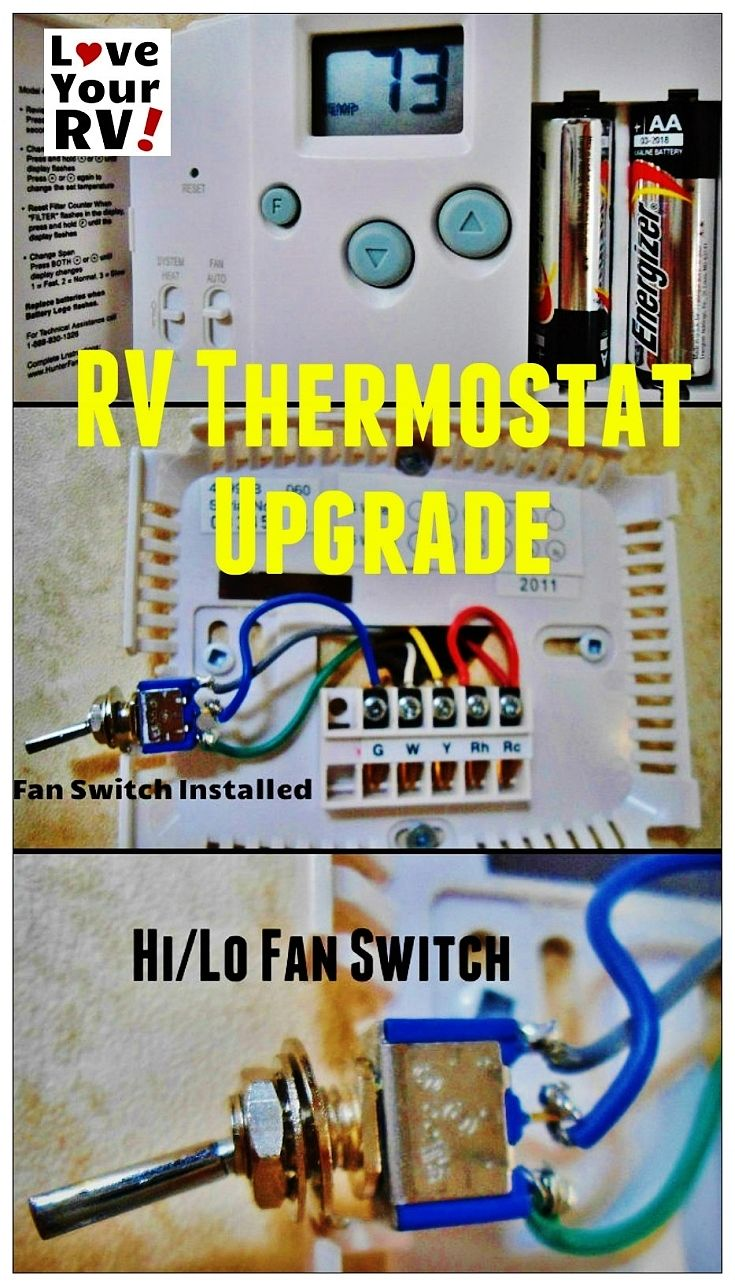 346 Best Rv Vehicle Images On Pinterest Campers Caravan And Camp Hurricane Motorhome Wiring Diagram For 2011 Hunter 42999b Digital Thermostat Upgrading The Oem