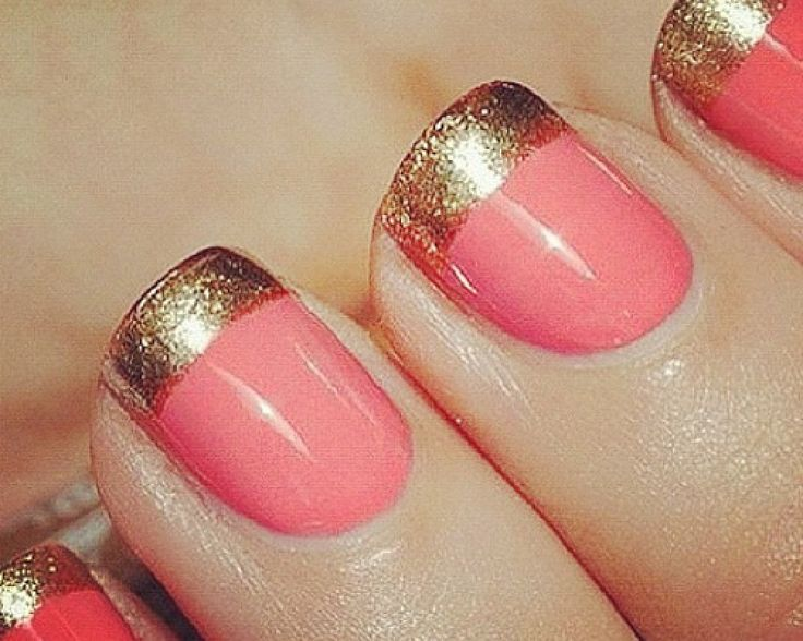 Definitely was thinking of doing this someday with a pretty coral shade and I swear I have that gold