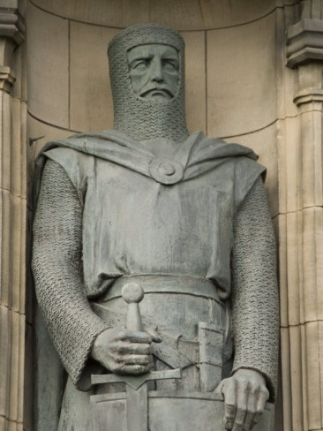 Statue of Sir William Wallace at Entrance to Edinburgh Castle, Edinburgh, Scotland, United Kingdom