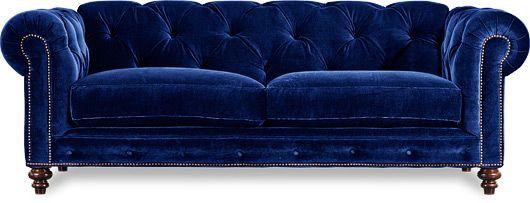 Blue velvet Sofa. surprisingly really like it