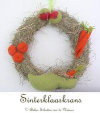 Patroonblad Sinterklaaskrans van Atelier Schatten van de Natuur - poppedijne-wolvilt.nl