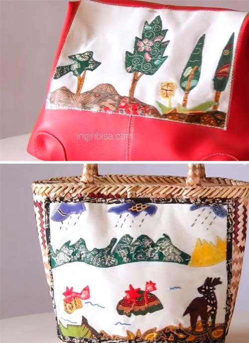 Membuat Lukisan Dari Limbah Batik Untuk Tas