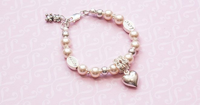 Baby Love Bracelet - perfect gift for a new baby or baby shower.  Find it at www.giftedmemorijewellery.com.au