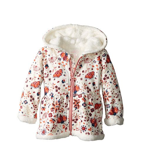 Pumpkin Patch Kids Fluffy Lined Hoodie Jacket (Infant) French Vanilla - 6pm.com