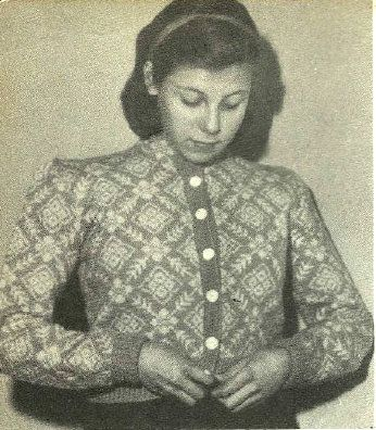 Mønstret pikejakke. Fra Kofteboka fra 1953.