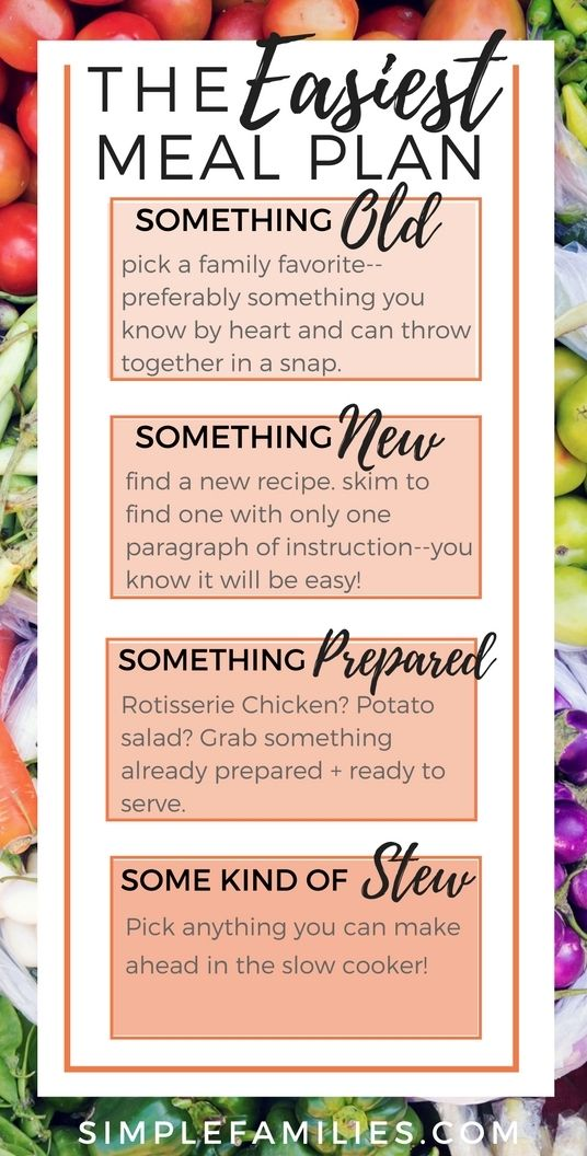 Simple Meal Planning for People Who Loathe Meal Planning   easy meal planning   cooking with kids   meal planning made simple