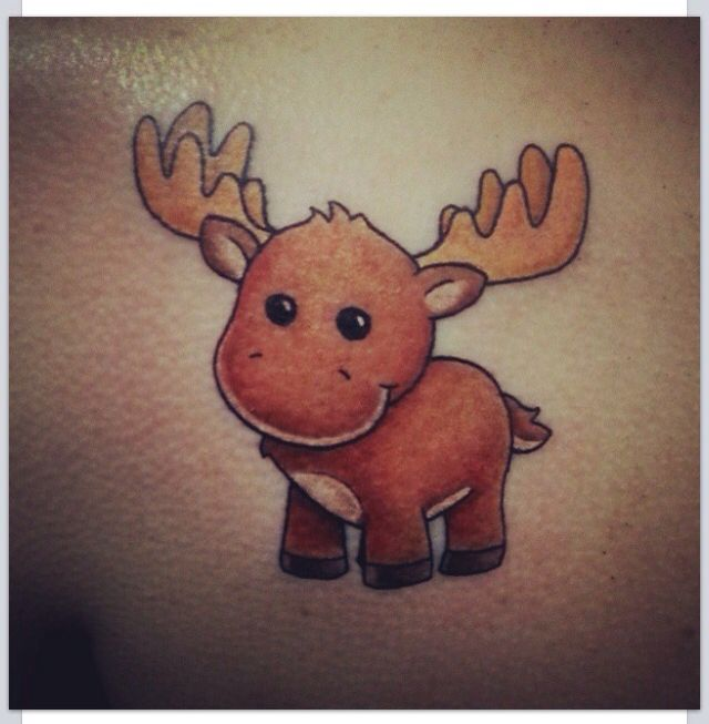 Moose tattoo cartoon