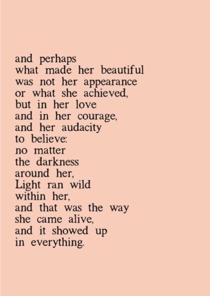 What made her beautiful