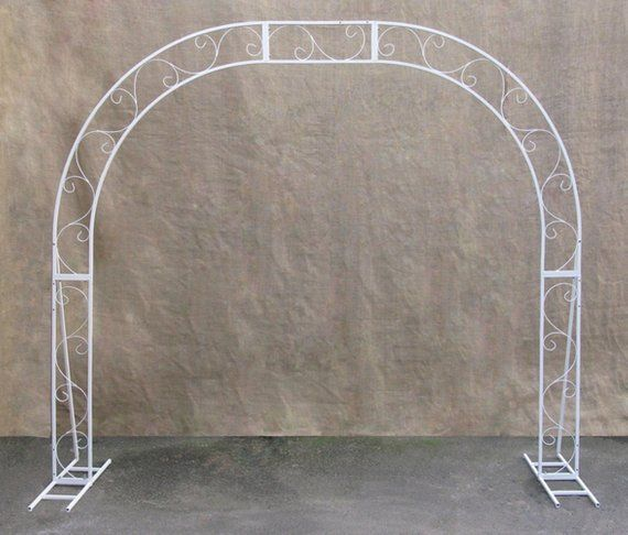 Semi Circle Wedding Arch Oval Wedding Arch Half Circle Mariage Arch Wedding Archway Altar Semicircular White Metal Wedding Backdrop En 2020 Arche Mariage Mariage Arc Idee De Decoration