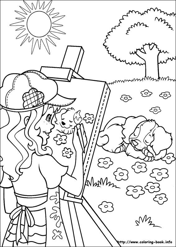 Holly hobby coloring page coloring pages and printables for Holly hobbie coloring pages