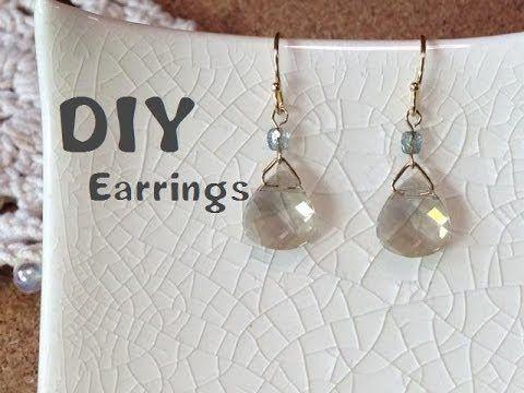 大人かわいい★ドロップ ピアス 作り方 How to make earrings - YouTube