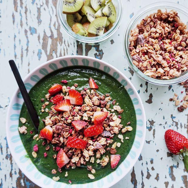 Vanløse blues.....: Grøn start på dagen: Greenie & morgenmadsalat