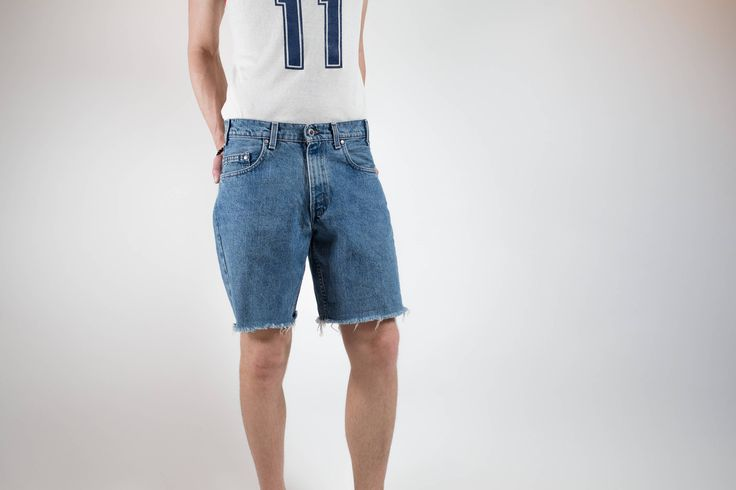 Vintage Levis Jean Shorts / Silver Tab Flare Cut Jean Shorts / Mens 32 Wasit Size by PrincipalVintage on Etsy