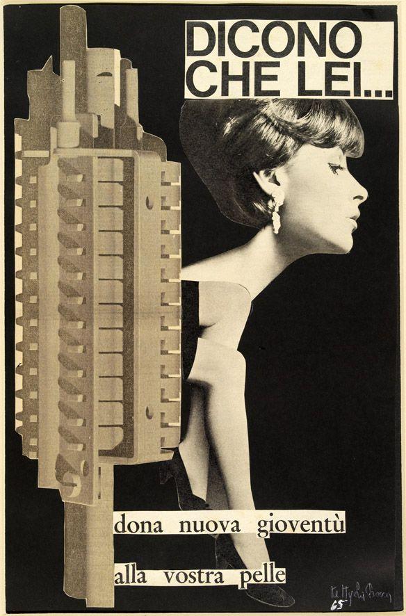 Ketty La Rocca - Dicono che lei, 1965. Mart, Archivio Tullia Denza www.mart.tn.it/collezioni