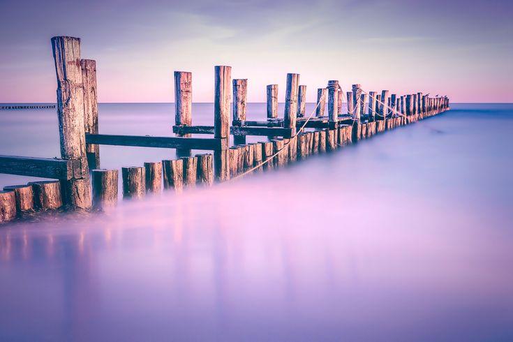 Nebelbuhne (Zingst / Darß), Buhne, Fischland, Küste, Nebel, Ostsee, Strand, Wellenbrecher, Zingst