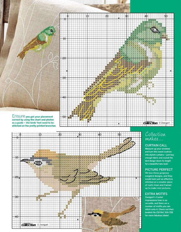 Птицы на ветках (вышивка крестиком). Обсуждение на LiveInternet - Российский Сервис Онлайн-Дневников