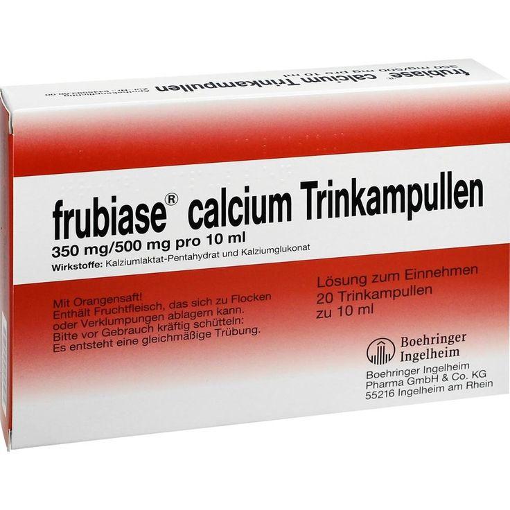 FRUBIASE CALCIUM T Trinkampullen:   Packungsinhalt: 20 St Trinkampullen PZN: 03126813 Hersteller: Boehringer Ingelheim Pharma GmbH &…