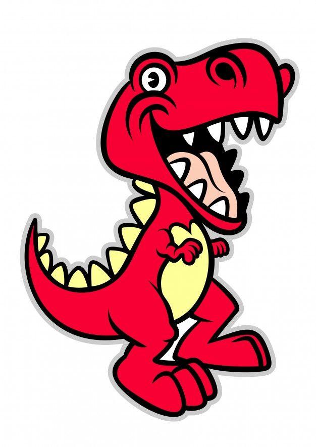 Dinosaurio T Rex De Dibujos Animados Lin Premium Vector Freepik Vector Verde Caracter Dibujos Animados An Dibujos Dinosaurio Rex Dibujo T Rex Dibujo