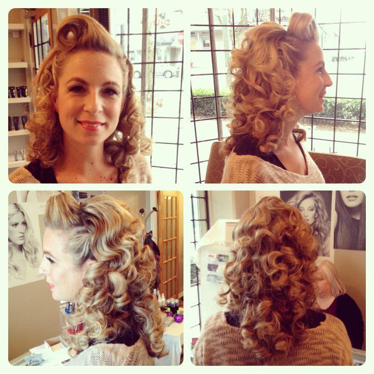 #vintagehair #retro #curls #suicideroll #pinup #modernpinup #makeup #gorgeous #muahbylexi #lexiwhitewall #bijoubodysalon