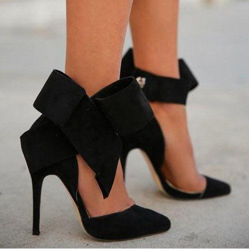 Charming Removable Big Bow High Heel Heels Shoes - Oh Yours Fashion