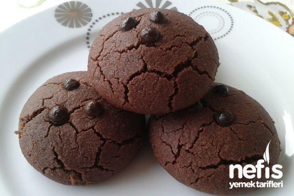 Çikolatalı Toz Pudingli Kurabiye(yorumlarda şekeri az pudingini içindeki şeker ağza kıtır kıtır geliyor diyorlar pudingi ele 3yk pudra şekeri kat.yağ kokuyor diyenler var 2 parmak az yağ koy)