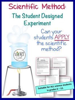 Let the student design the lab!  In this inquiry lab activity, students are guided through the scientific method and the experimental design process.Push your students to do more than just list the steps of the scientific method.  This activity will teach them how to APPLY the scientific method.