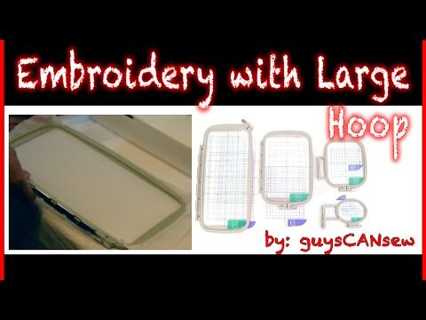 Brother PE-770 Embroidery machine tutorial: how to use large hoop - YouTube