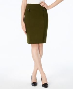 Alfani Ponte Pencil Skirt, Created for Macy's - Green 12