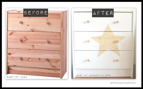 before-after ikea hack rast