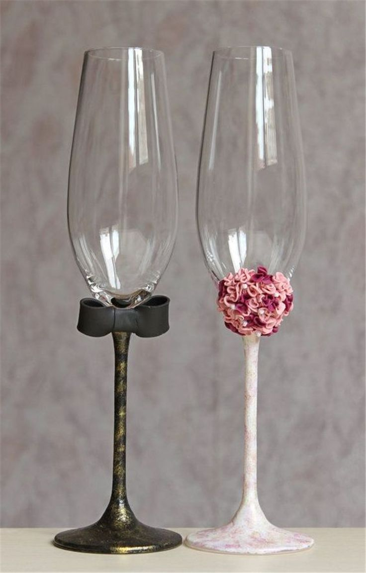 champagne glasses decorated; wedding glasses; personalized wedding glasses; wedd…