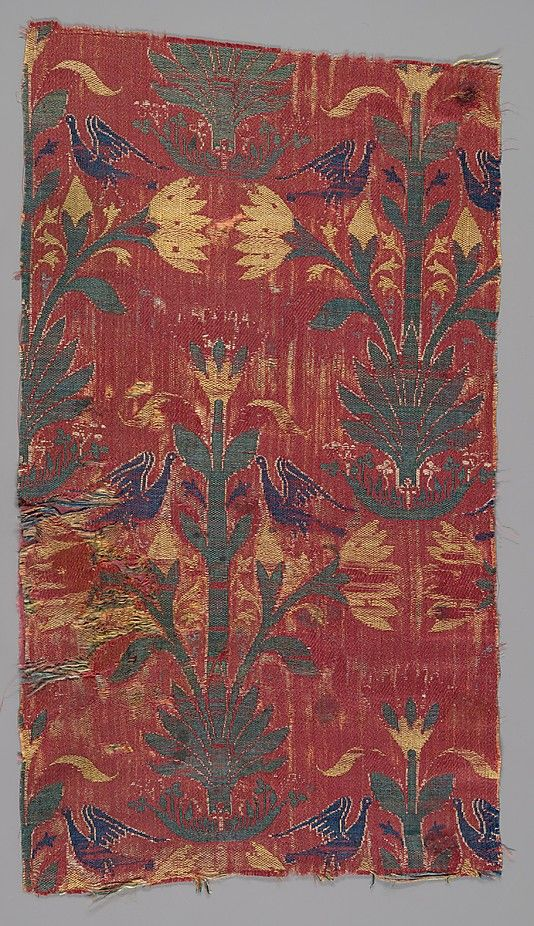 Fragment Date: 15th century Geography: Spain Culture: Islamic Medium: Silk; lampas Accession Number: 1980.539