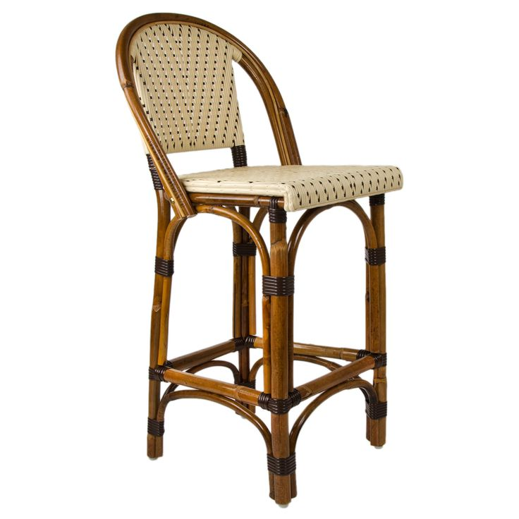French Bistro Bar Stool With Back