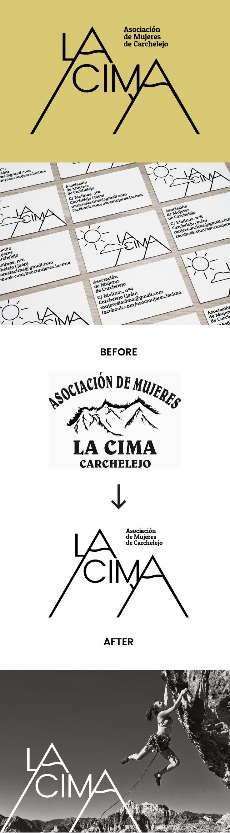 Visual identity redesign project for Women's Association LA CIMA (Carchelejo) | September 2016 | Roberto García