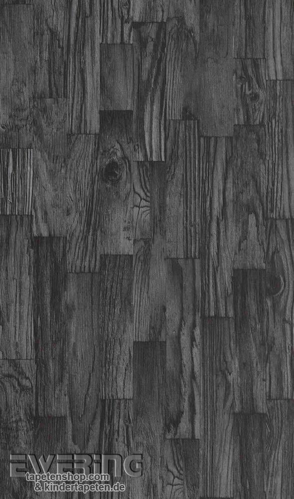Tapetenshop.com   7-446647 Rasch Factory 2 Vliestapete schwarz Treibholz-Optik   Tapeten, Borten und Gardinen günstig kaufen - Rasch, Rasch Textil, AS-Creation, Marburg, Erismann, Essener