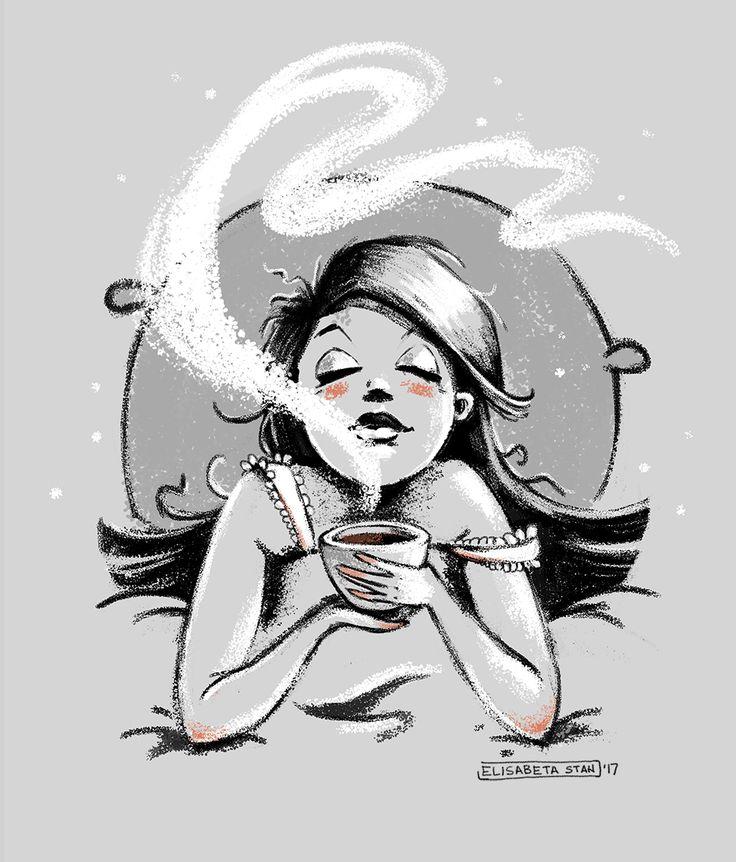 Thinkin' about... coffee Art by Elisabeta Stan 08.2017    More: https://elisabetastan.artstation.com/