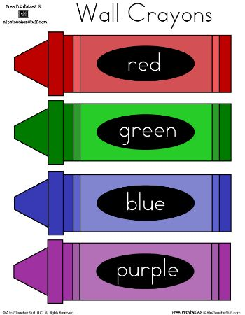 color word crayons - Colour In Printables