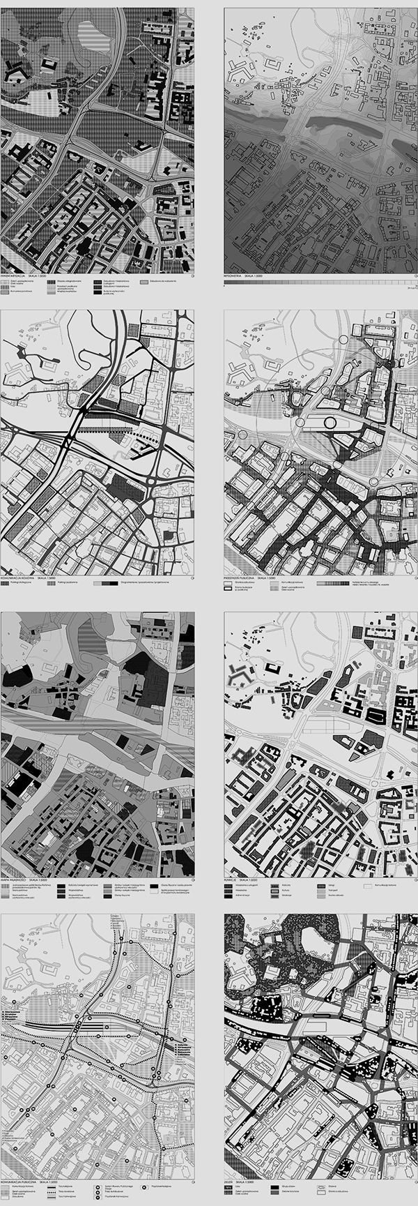 Development plan for the central part of Gdańsk downtown hub with the proposition concept of high-scale and multi-purpose building with railway station as dominant feature. Student work.