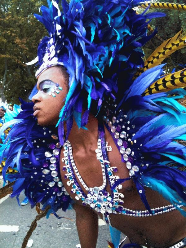 Notting Hill Carnival FANTASTIC UNIQUE COSTUMES. SKILLED DANCING