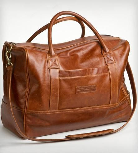 The Classic Weekender Bag in Whiskey | This classic weekend bag is an investment in timeless design. ... | Carry-On Luggage